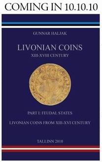 Новая книга по монетам Ливонии XIII–XVIII веков