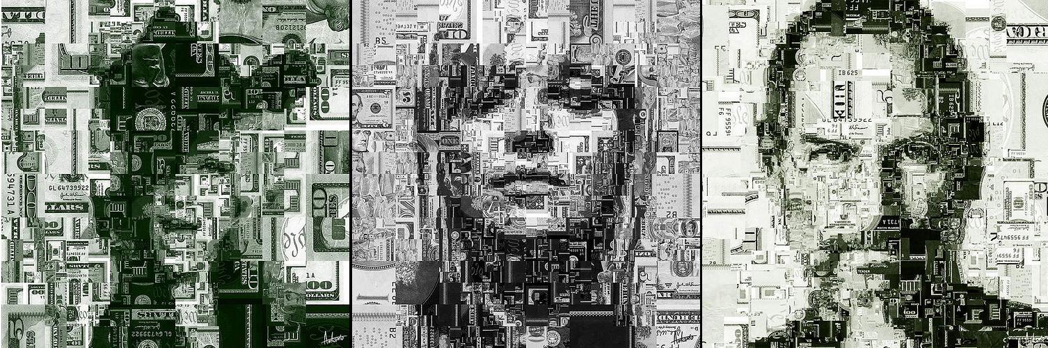 Антонио и его мозайки из денег