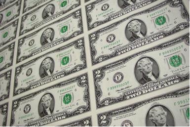 Цена двухдолларовой банкноты