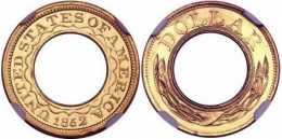Золотая монета 1852 года