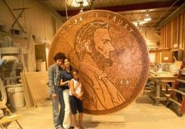 Монета из 840 тысяч монет. Работа Вандер Мартич