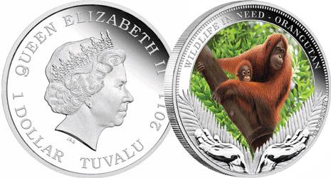 Монеты «Орангутаны»