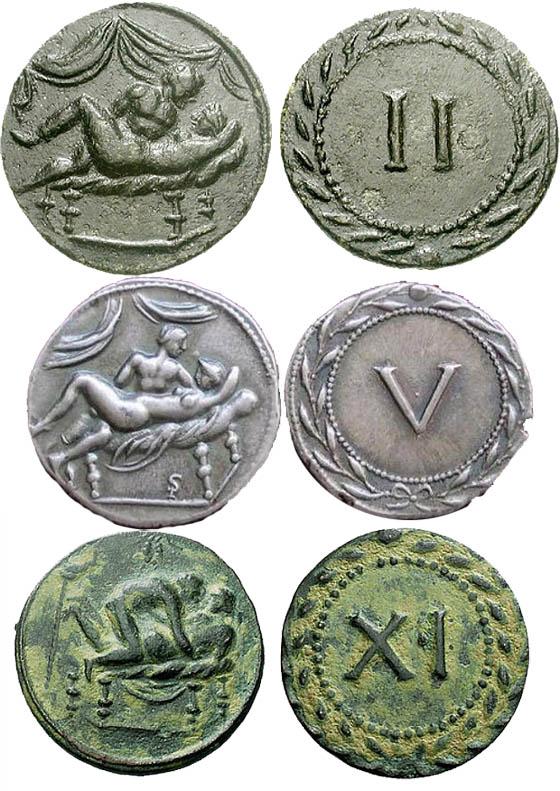 Римские «деньги» с сексуальными мотивами