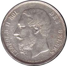 Бельгийский франк времен Латинского валютного союза. Иллюстрация Pietro
