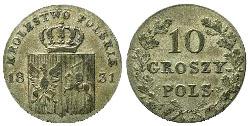 Революционный биллон (10 грошей, 1831 г.)