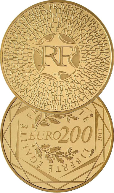Монета «Регионы Франции»