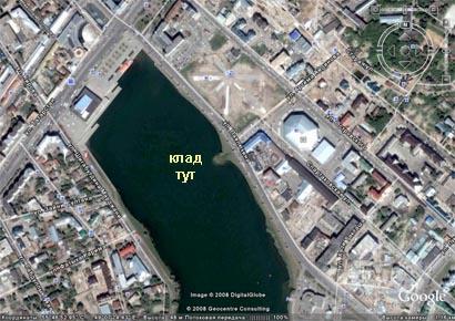 Озеро Кабан, приблизительное место клада