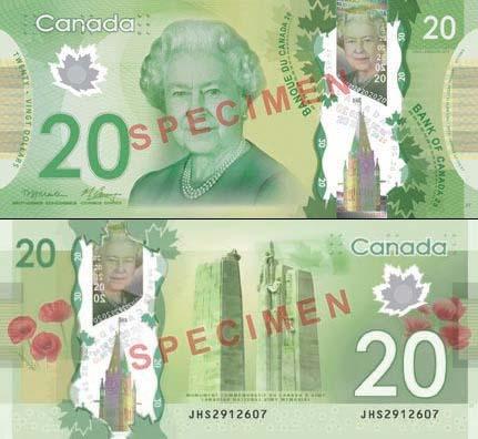Провокационные 20 долларов Канады