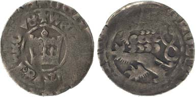 Пражский грош, выпущенный в период правления Вацлава IV (1378–1419)