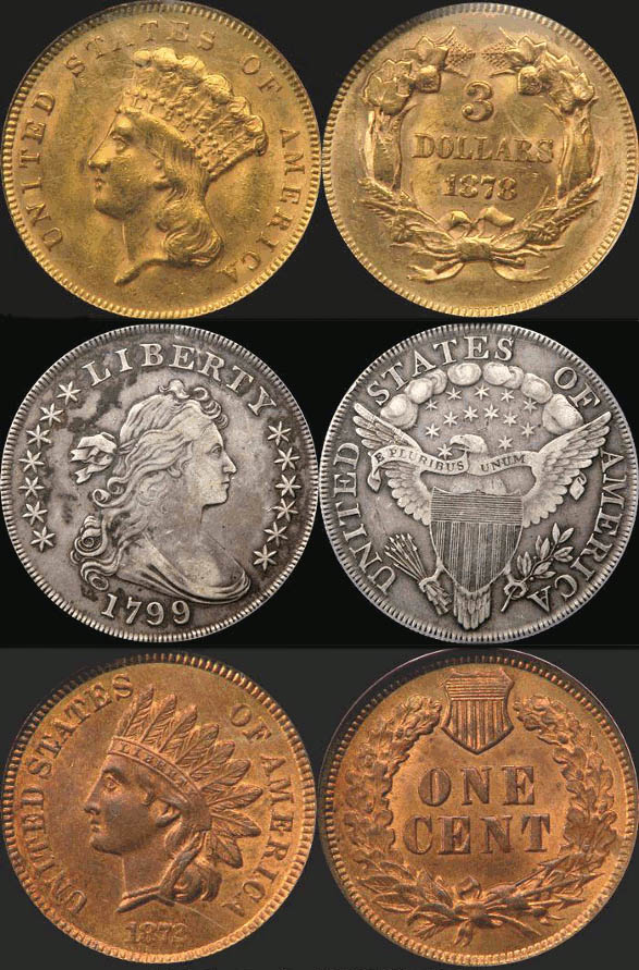 Монеты, выставленные на аукцион Sonny Henry's