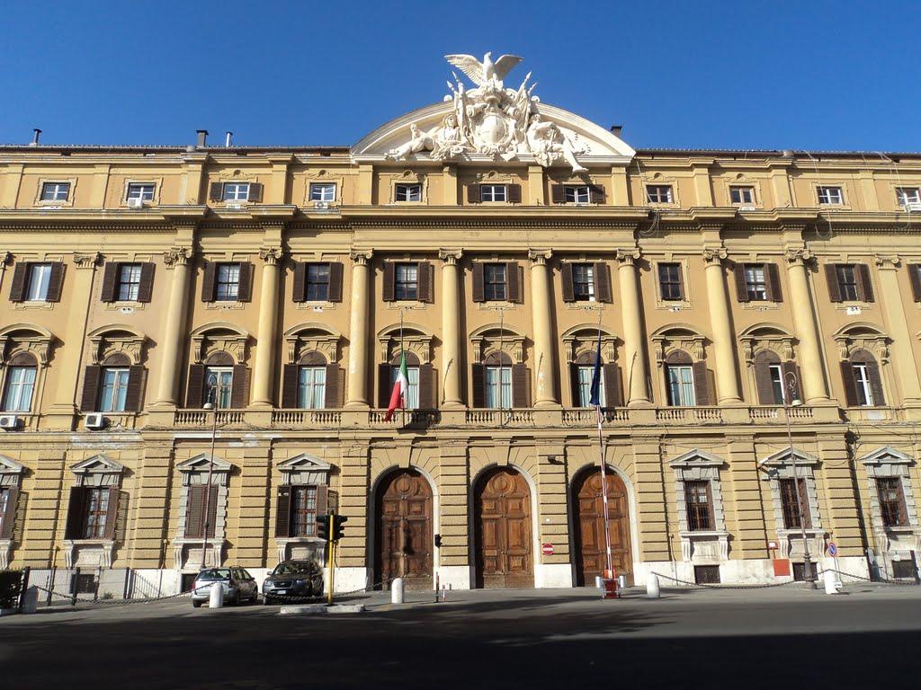 Фасад дворца Министерства финансов