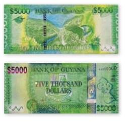 Новый номинал гайанских долларов