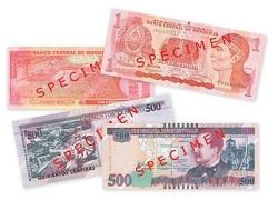 Банкноты Гондураса для слепых