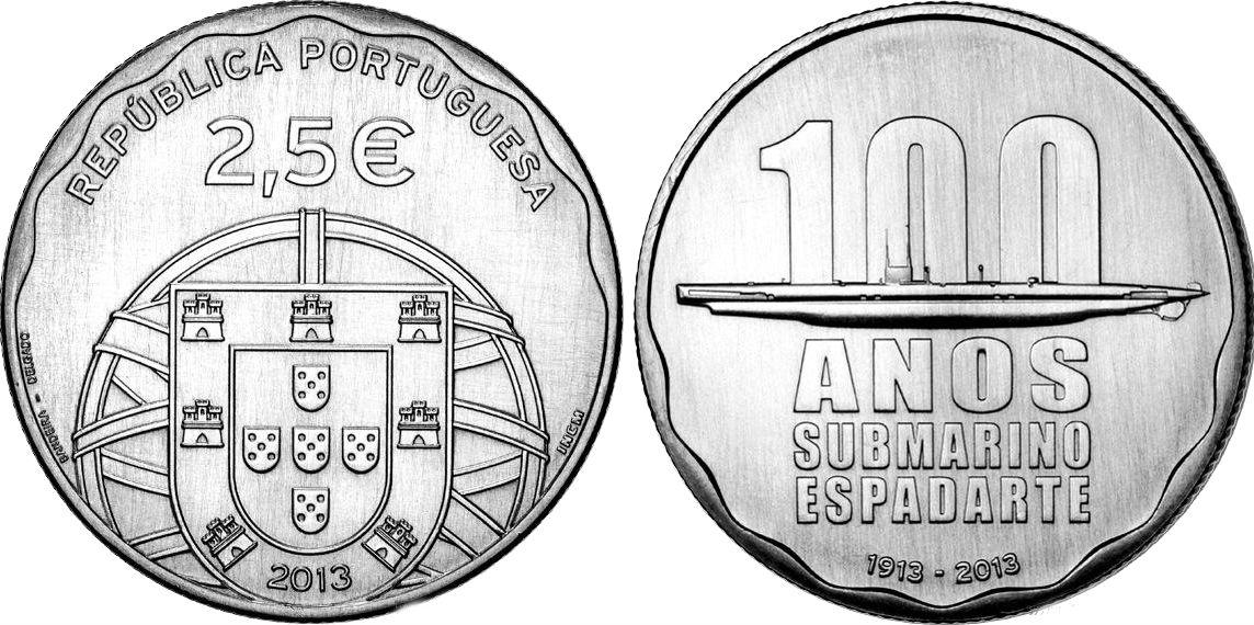 Portugal 2,50 euro coin