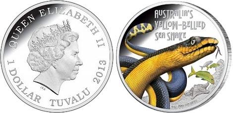 Одна из самых ядовитых морских змей на монете