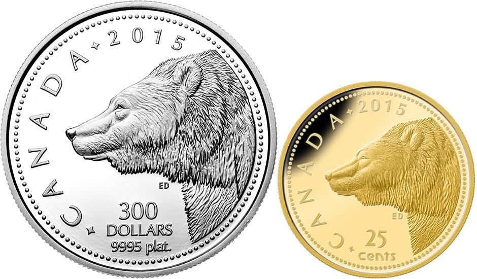 Монеты «Медведь гризли»