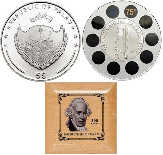 Unusual coin Daniel Gabriel Fahrenheit