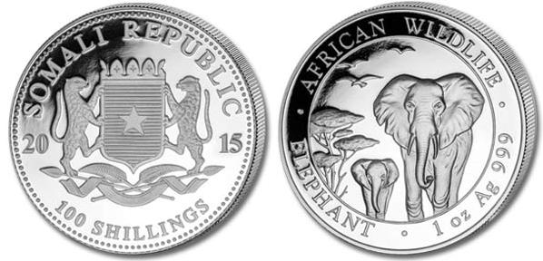 Монета Сомали «Слон»