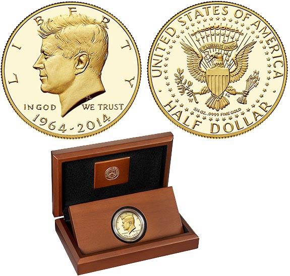 Полдоллар с портретом Кеннеди