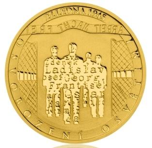 Монета в честь освобождения Освенцима