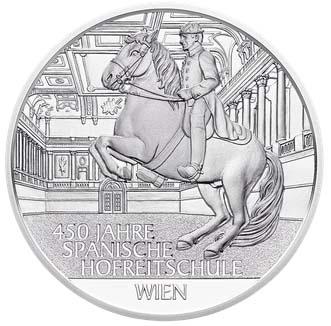 Монета в честь 450-летия Испанской школы верховой езды