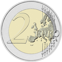 Литовскую памятная монета 2 евро «Спасибо»