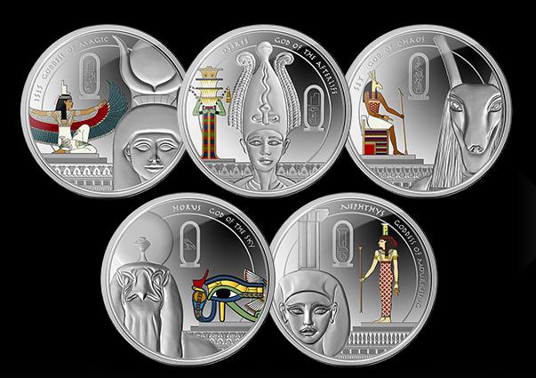 Набор монет «История Осириса»