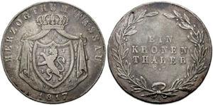 Кроненталер Нассау, 1817 год