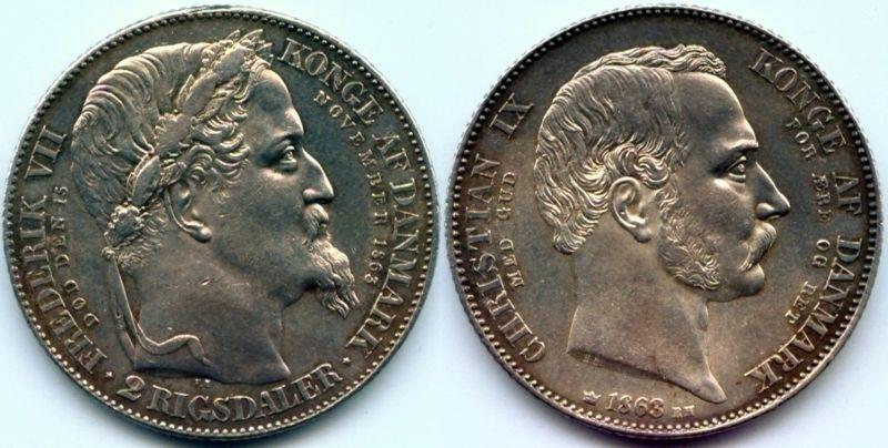 2 ригсдалера 1863 г.
