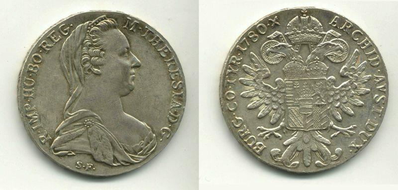 Талер Марии-Терезии, чеканка Рима