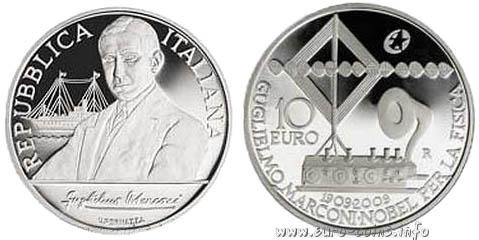 Памятная серебряная монета «Гульельмо Маркони»
