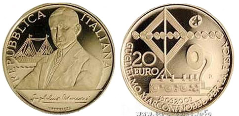 Памятная золотая монета «Гульельмо Маркони»