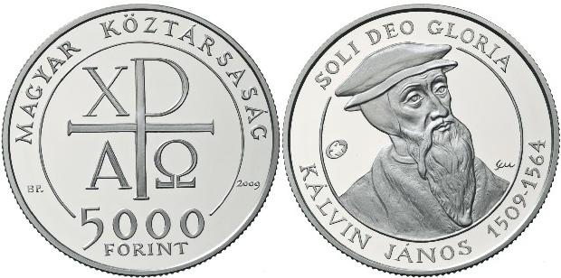 """Geburtstag von Johannes Calvin """" 5000 Forint SONDERAUSGABE 2009 PP NUR in..."""