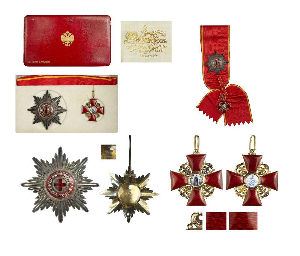 Лот 169 Комплект знаков Ордена Св. Анны 1 степени