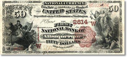 Банкнота достоинством в 50 долларов
