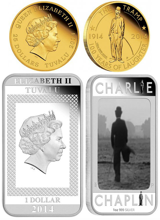 Charlie Chaplin – 100 Years of Laughter 2014 1/4oz Gold Proof Coin
