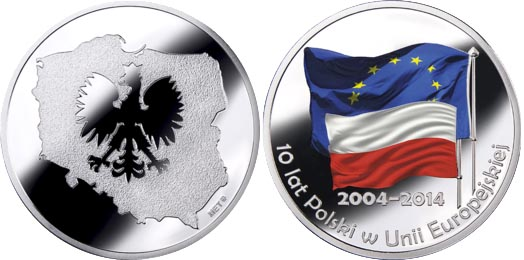 Медаль Польши в честь 10-летия в ЕС