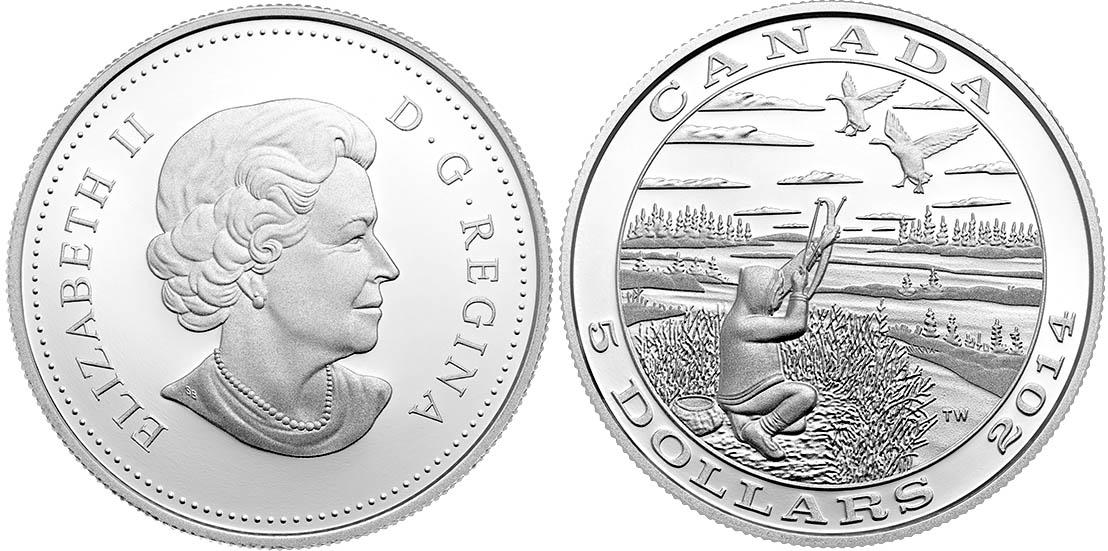 Монета «Канадская казарка»