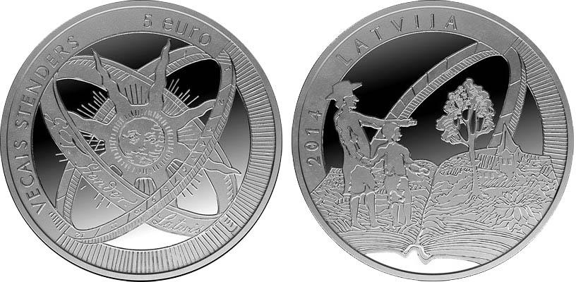 Монета Латвии «Старый Стендерс»