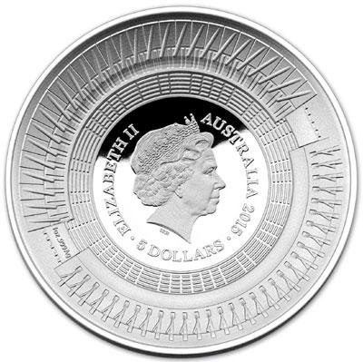 Куполообразная монета, посвященная Чемпионату мира по крикету