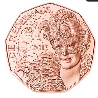 2015 NEW YEAR COIN DIE FLEDERMAUS