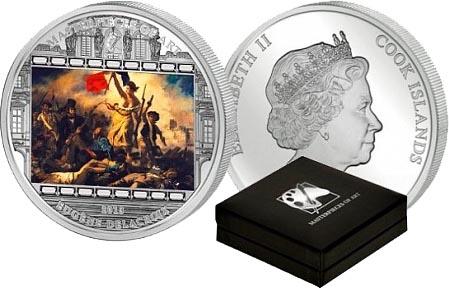 Картина Делакруа на монете из серебра