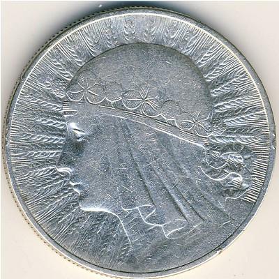 10 zlotych 1932 цена монеты канады 5 долларов