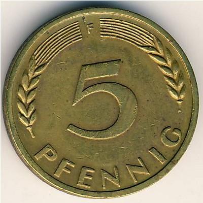 5 пфеннигов 10 коп немагнитные 1996 года цена украина