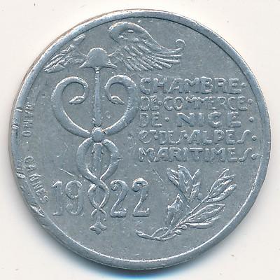 Ницца., 10 сентим (1922 г.)