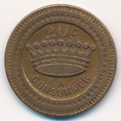 Нотгельды Франции, 20 сентим