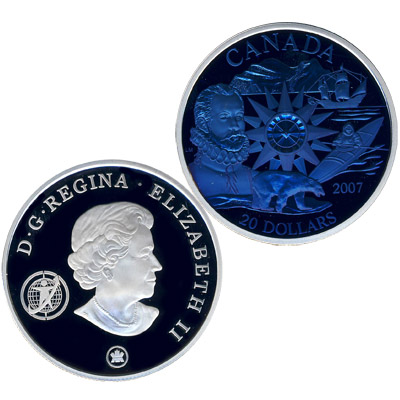 Монета 1 доллар 1995 года - памятник миротворческим силам оон - канада
