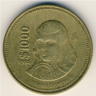 1988 1000 Mexican Coin http://www.gcoins.net/en/catalog/view/5493