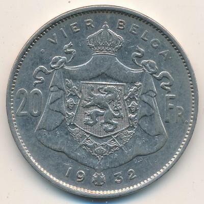 Бельгия, 20 франков (1932 г.)