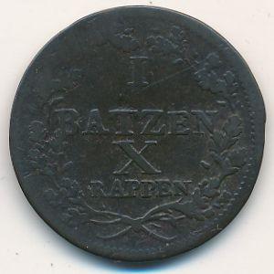Люцерн, 10 батценов (1808 г.)